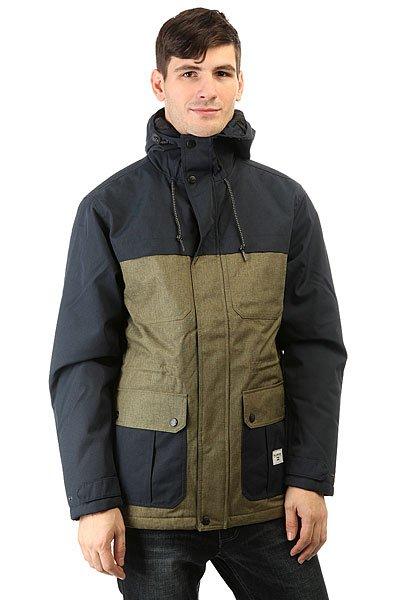 Куртка Billabong Alves Contrast NavyОриентируясь на основные потребности, Billabong создал куртку, которая отличается чистым дизайном и функциональностью.Технические характеристики: Материал - Oxford.Утеплитель средней плотности (120 г тело, 100 г  рукава).Стеганая подкладка из тафты.Фиксированный капюшон на утяжке.Карманы для рук.Внутренняя регулировка талии.Подол на утяжке для защиты от ветра.Застежка на молнии с ветрозащитным клапаном.<br><br>Цвет: синий,зеленый<br>Тип: Куртка<br>Возраст: Взрослый<br>Пол: Мужской