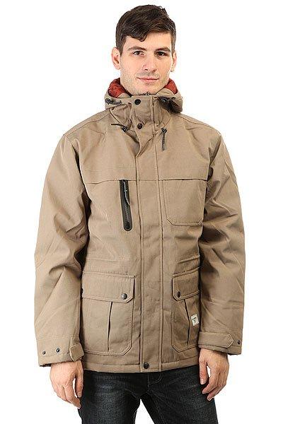 Куртка Billabong Alves KhakiОриентируясь на основные потребности, Billabong создал куртку, которая отличается чистым дизайном и функциональностью.Технические характеристики: Материал - Oxford.Утеплитель средней плотности (120 г тело, 100 г  рукава).Стеганая подкладка из тафты.Фиксированный капюшон на утяжке.Водонепроницаемый нагрудный карман на молнии.Карманы для рук.Внутренняя регулировка талии.Застежка на молнии с ветрозащитным клапаном.<br><br>Цвет: бежевый<br>Тип: Куртка<br>Возраст: Взрослый<br>Пол: Мужской