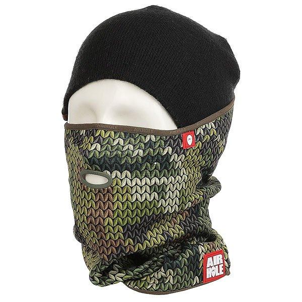 Маска Airhole Airtube Ergo Sweater Foiliage Camo<br><br>Цвет: зеленый<br>Тип: Маска<br>Возраст: Взрослый<br>Пол: Мужской