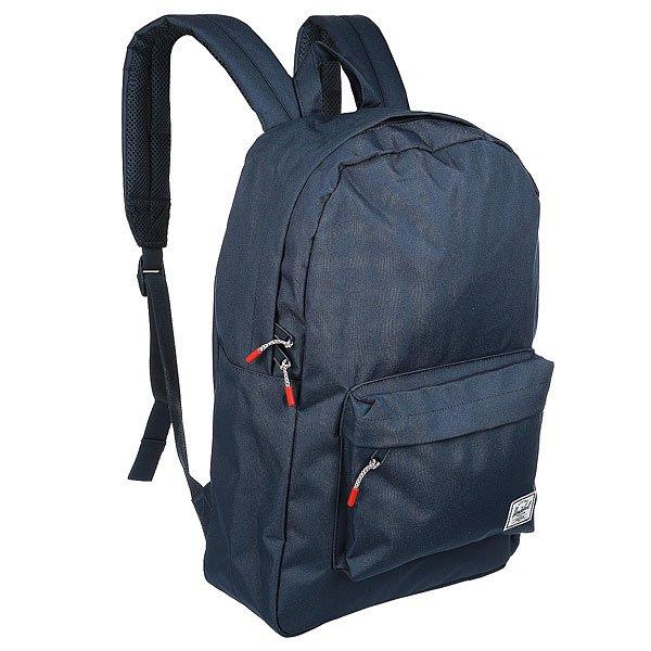 Рюкзак городской Herschel Classic An NavyПроверенный годами дизайн рюкзака Herschel Classic подойдет к любому стилю.Характеристики:Основное отделение на молнии. Мягкие плечевые ремни с подкладкой из сетки. Классическая нашивка с логотипом Herschel.<br><br>Цвет: синий<br>Тип: Рюкзак городской<br>Возраст: Взрослый