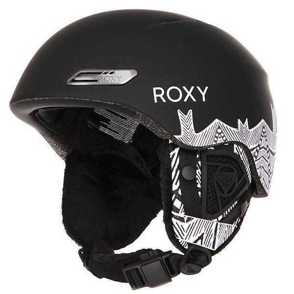 Шлем для сноуборда женский Roxy Love Is All BlackСупертехнологичный и в тоже время суперстильный шлем! Невероятно легкий и комфортный, обеспечит необходимую защиту и в горах и в парке.Характеристики:Сверхлегкая двойная конструкция-шелл.Пенный амортизирующий наполнитель EPS. Фронтальная и верхняя вентиляция с металлическим напылением для эффективного воздухообмена. Подкладка из шерпы и сетки. Мягкие термоформованные съемные ушные накладки. Интегрированная система регулировки размера. Ремень для подбородка из шерпы с застежкой Fidlock®.Вес: 400 г.<br><br>Цвет: черный,белый<br>Тип: Шлем для сноуборда<br>Возраст: Взрослый<br>Пол: Женский