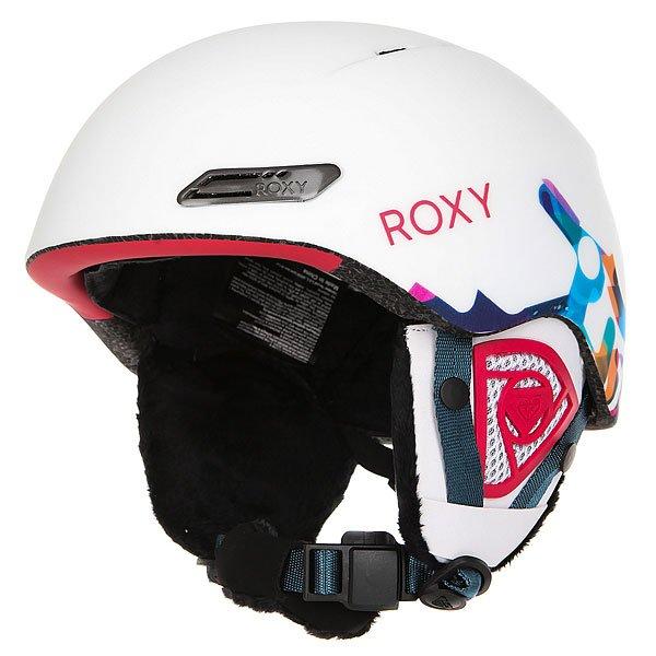 Шлем для сноуборда женский Roxy Love Is All Milo Typo/bright WhiteСупертехнологичный и в тоже время суперстильный шлем! Невероятно легкий и комфортный, обеспечит необходимую защиту и в горах и в парке.Характеристики:Сверхлегкая двойная конструкция-шелл.Пенный амортизирующий наполнитель EPS. Фронтальная и верхняя вентиляция с металлическим напылением для эффективного воздухообмена. Подкладка из шерпы и сетки. Мягкие термоформованные съемные ушные накладки. Интегрированная система регулировки размера. Ремень для подбородка из шерпы с застежкой Fidlock®.Вес: 400 г.<br><br>Цвет: белый,мультиколор<br>Тип: Шлем для сноуборда<br>Возраст: Взрослый<br>Пол: Женский