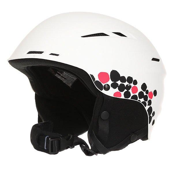 Шлем для сноуборда женский Roxy Alley Oop WhiteAlley Oop, и никакой трюк Вам не страшен! Теперь защищать свою голову стало еще приятней: внутренняя мягкая флисовая отделка для большего комфорта, продуманная система вентиляции, мягкие наушники и регулировка объема делают этот шлем еще более совершенным. Разработчики не забыли и про внешний вид, поместив на шлем логотип Roxy в форме снежинки.Характеристики:Система вентиляции. Регулировка по объему головы. Крепление для очков. Мягкий вкладыш для подбородка. Шелл из ABS-пластика. Съемные ушные накладки.<br><br>Цвет: белый<br>Тип: Шлем для сноуборда<br>Возраст: Взрослый<br>Пол: Женский