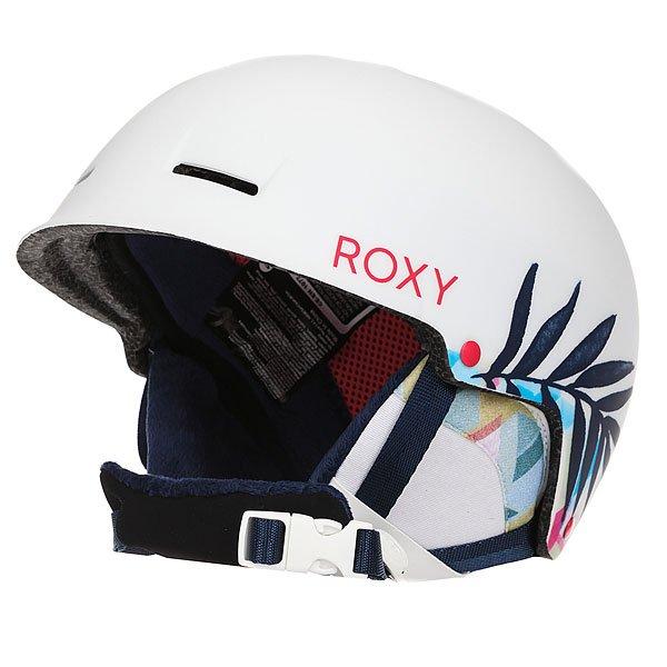 Шлем дл сноуборда женский Roxy Avery Botanik/Bright WhiteДействительно легкий шлем, который весит всего 350 грамм, но при том обладает прочной проверенной двухслойной конструкцией с наполнителем из вспененного EPS материала. Дополнительного комфорта добавлт съемные мгкие формованные амбушры, выполненные из шерпа флиса и совместимые с аудио-системой, так что Вы всегда сможете брать лбиму музыку с собой.Характеристики:Супер легка двойна формованна оболочка. Внутренний слой из вспененного материала EPS, амортизирущего удары. Фронтальные и верхние вентилционные отверсти дл увеличени потока воздуха.Мгкие термоформованные съемные амбушры из шерпа-флиса.Совместимость с аудио-системой. Мгка накладка на подбородок из шерпа-флиса. Крепление дл маски. Флисова и сетчата подкладка дл комфорта и сохранени тепла. Вес: 350 грамм.Состав: 100% пластик.<br><br>Цвет: белый,черный<br>Тип: Шлем дл сноуборда<br>Возраст: Взрослый<br>Пол: Женский