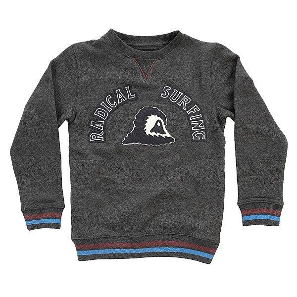 Толстовка свитшот детская Quiksilver Radsurfcyth Dark Grey Heather<br><br>Цвет: серый<br>Тип: Толстовка свитшот<br>Возраст: Детский