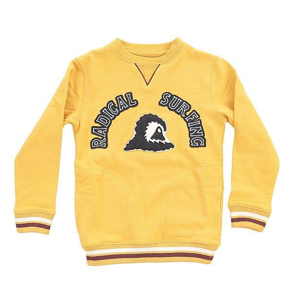 Толстовка свитшот детская Quiksilver Radsurfcyth Golden Glow<br><br>Цвет: желтый<br>Тип: Толстовка свитшот<br>Возраст: Детский