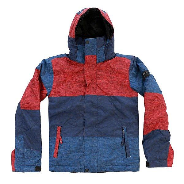 Куртка детская Quiksilver Mission Print Stripe Racing RedС детской сноубордической курткой Quiksilver Mission Printed Вашему юному райдеру несложно будет подстроиться под самый широкий спектр зимних погодных условий. Она выполнена из технологичной водостойкой ткани DryFlight с мембранными показателями 10 000 мм / 10 000 г и содержит утеплитель Warmflight®, который позаботится об оптимальной температуре тела. Важные детали, такие как снегозащитная юбка, манжеты из лайкры с отверстием для большого пальца и система присоединения куртки к штанам позволят оставаться в сухости и комфорте даже в самый снежный и щедрый на паудер день сезона.Характеристики:Влагостойкая ткань DryFlight 10K (10 000 мм / 10 000 г). Утеплитель Warmflight®: 120 г тело / 100 г рукава / 80 г капюшон. Подкладка из тафты и трикотажа с начёсом. Стандартный крой. Проклеенные критические швы.Снегозащитная юбка. Система присоединения куртки к штанам. Регулируемый капюшон на липучке Velcro. Боковые карманы на молнии. Внутренний карман для маски. Карман для ски-пасса на молнии на рукаве. Регулируемые внешние манжеты на липучке. Манжеты из лайкры с отверстием для большого пальца. Вентиляционные отверстия с сетчатой подкладкой.<br><br>Цвет: синий,бордовый<br>Тип: Куртка утепленная<br>Возраст: Детский