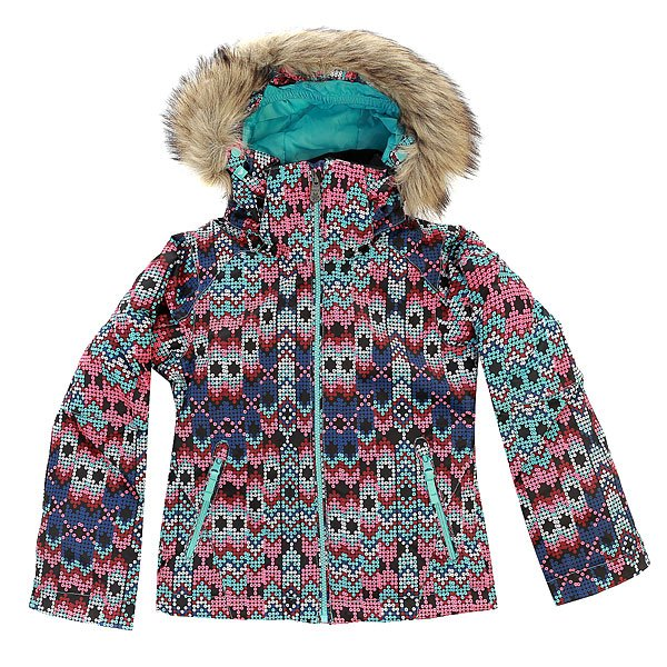 Куртка детская Roxy Jetty Ski Sequin_paradise PinkВ этой куртке Вашему ребенку будет так же комфортно на склоне, как и Вам самим, ведь в Roxy Jetty Girl использованы те же технологии, что и в версии для взрослых, а крой скорректирован специально для девочек.Характеристики:Влагостойкая ткань Dry Flight 10K (10 000 мм / 10 000 г). Утеплитель: 200 г тело / 140 г рукава / 60 г капюшон. Подкладка из тафты и трикотажа с начёсом. Стандартный крой. Проклеенные критические швы.Снегозащитная юбка. Боковые карманы. Внутренний карман для маски.Регулируемые внешние манжеты на липучке. Карман для ски-пасса на молнии на рукаве.<br><br>Цвет: черный,мультиколор<br>Тип: Куртка утепленная<br>Возраст: Детский