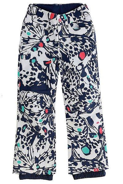 Штаны сноубордические детские Roxy Backyard Butterfly Blue PrintПрактичныесноубордические штаны для юных покорительниц склонов и вершин, призванные обеспечивать комфорт на протяжении долгих дней активного катания. Минималистичный дизайн без лишних деталей обеспечивает лаконичный внешний вид, а классический крой создает оптимальную посадку, не сковывая движений. Мембранная ткань DryFlight® 10k не допустит промокания и отведет лишнюю влагу, а утеплитель Warmflight® 80 г сохранит драгоценное тепло. На случай потепления в штанах предусмотрены сетчатые вентиляционные карманы, расположенные с внутренней стороны бедер.Характеристики:Мембрана 10K DryFlight®.Классический крой. Утеплитель Warmflight® 80 г. Подкладка из лёгкой тафты. Проклеенные критические швы. Регулируемая на липучках талия. Сетчатые вставки для вентиляции с внутренней стороны бедер. Гейтеры из тафты. Держатель для ски-пасса.<br><br>Цвет: белый,синий<br>Тип: Штаны сноубордические<br>Возраст: Детский