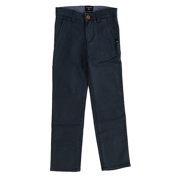 Штаны прямые детские Quiksilver Krancontasawyou Navy Blazer<br><br>Цвет: синий<br>Тип: Штаны прямые<br>Возраст: Детский