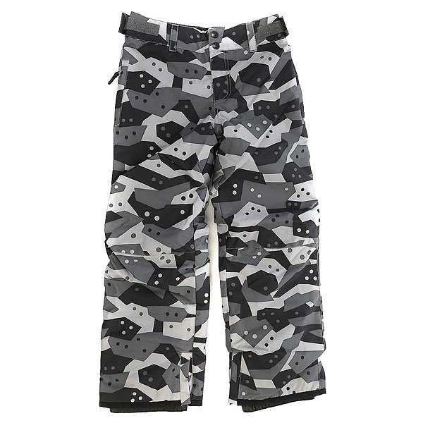 Штаны сноубордические детские Billabong Grom Desert StormДетские сноубордические штаны с уникальной технологией GroRoom, позволяющей юным райдерам носить их не один сезон, так как брюки способны расти вместе с их обладателем. Кроме того, они оснащены высококачественным мембранным материалом, защищающим от промокания, и лёгким утеплителем Polyfill, прекрасно сохраняющим тепло. То, что нужно для комфортного катания в течение всего дня! Характеристики:Мембранная дышащая влагостойкая ткань 10k (10000 мм / 10000 г/м2). Утеплитель Polyfill 40 г.Подкладка из тафты с трикотажными панелями с начёсом. Классический крой.Технология GroRoom. Проклеенные критические швы. Регулируемый пояс на липучках. Петли для ремня. Низ штанин на кнопках с возможностью расширения.Усиленные кромки штанин.<br><br>Цвет: серый,черный<br>Тип: Штаны сноубордические<br>Возраст: Детский
