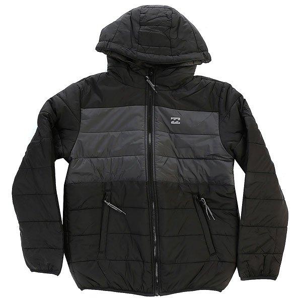 Куртка детская Billabong Revert BlackКуртка Revert Boy - это, по сути, 2 куртки в одной. С одной стороны это теплая стеганая непродуваемая куртка, с другой - удобная флисовая толстовка не стесняющая движений.Характеристики:Логотип на груди. Двухсторонняя куртка. Внутренняя ткань: флис.<br><br>Цвет: черный<br>Тип: Куртка<br>Возраст: Детский
