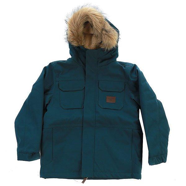 Куртка детская Billabong Olca Deep SeaНет никакихсомнений в том, что куртка-паркаOlca boys является произведением в области дизайна, функциональности и стиля.Характеристики:Регулируемая талия. Теплая подкладка. Регулируемый капюшон с отделкой из искусственного меха.Воротник с защитой подбородка. Благодаря застежкам на кнопках обеспечивается дополнительная изоляция. Нагрудный карман на кнопке. 2 утепленных кармана для рук. Регулируемые манжеты. Водоотталкивающий прочный материал.<br><br>Цвет: синий<br>Тип: Куртка<br>Возраст: Детский