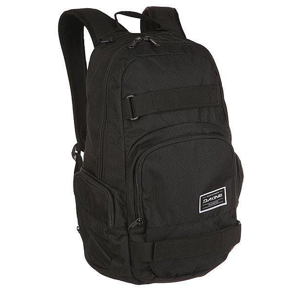 Рюкзак спортивный Dakine Atlas BlackПрактичный и прочный рюкзак для скейтборда достаточно вместителен для посещения школы или повседневной прогулки по городу.Технические характеристики: Материал - полиэстер 600D.Ремни для переноски скейта.Карман-органайзер.Карман на флисовой подкладке для солнцезащитных очков.Боковые карманы на молнии.Карман для ноутбука 15.<br><br>Цвет: черный<br>Тип: Рюкзак спортивный<br>Возраст: Взрослый