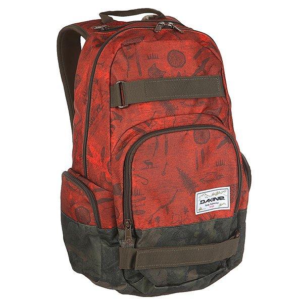 """Рюкзак спортивный Dakine Atlas NorthwoodsСтильный, вместительный городской рюкзак с ремнями для крепления скейтборда, который позволит перемещаться по городу с максимальным комфортом. Имеется внутреннее отделение для ноутбука до 15 дюймов, уплотненный карман для солнцезащитных очков и карманы быстрого доступа, позволяющие держать нужные вещи """"под рукой"""".Характеристики:Вместительное основное отделение.Отделение для ноутбука до 15 дюймов без уплотнителя. Ремни для крепления скейтборда. Внешний карман быстрого доступа на молнии. Карман для солнцезащитных очков с флисовой подкладкой. Боковые карманы на молнии.Регулируемые плечевые ремни. Удобная ручка для переноски в руке.<br><br>Цвет: бордовый,зеленый,черный<br>Тип: Рюкзак спортивный<br>Возраст: Взрослый"""