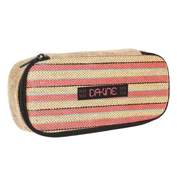 Пенал женский Dakine School Case Honeysuckle<br><br>Цвет: бежевый,розовый<br>Тип: Пенал<br>Возраст: Взрослый<br>Пол: Женский