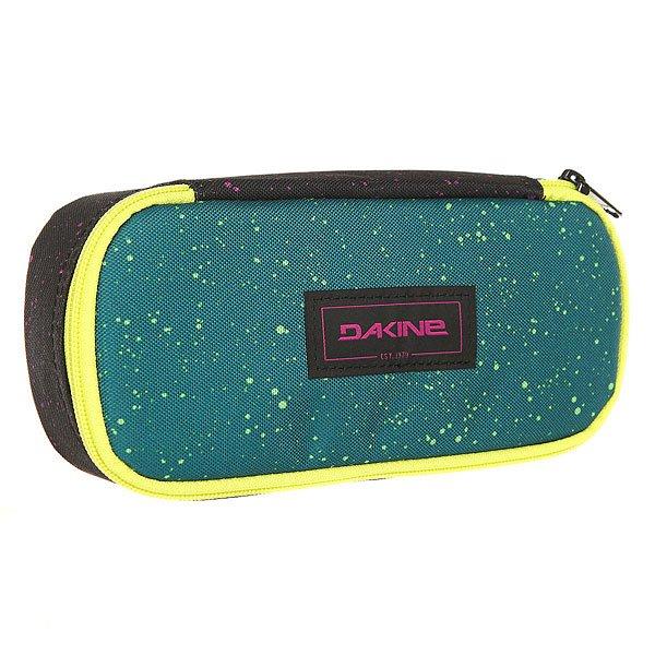 Пенал женский Dakine School Case Spradical<br><br>Цвет: зеленый,желтый<br>Тип: Пенал<br>Возраст: Взрослый<br>Пол: Женский