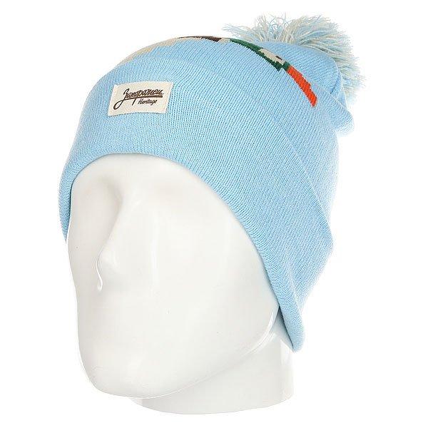 Шапка Запорожец Big Ditch 86 Pom Blue<br><br>Цвет: мультиколор,голубой<br>Тип: Шапка<br>Возраст: Взрослый<br>Пол: Мужской