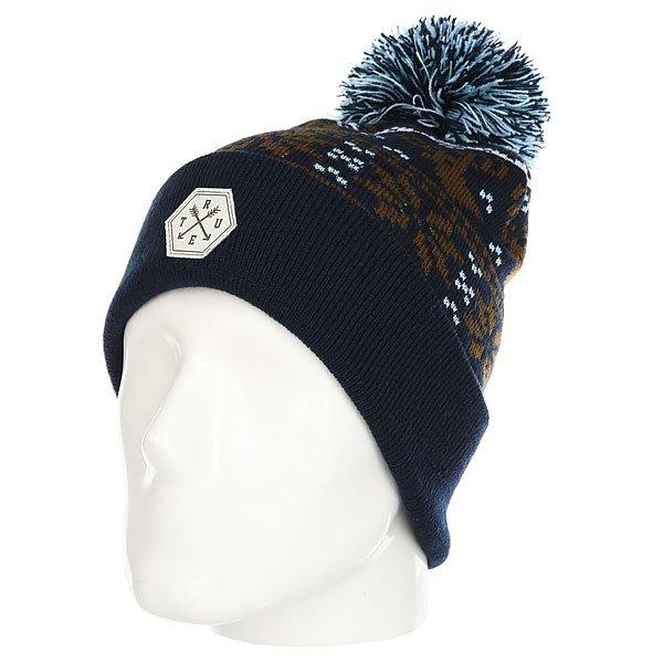 Шапка TrueSpin Ts Deer Navy<br><br>Цвет: синий,коричневый<br>Тип: Шапка<br>Возраст: Взрослый<br>Пол: Мужской