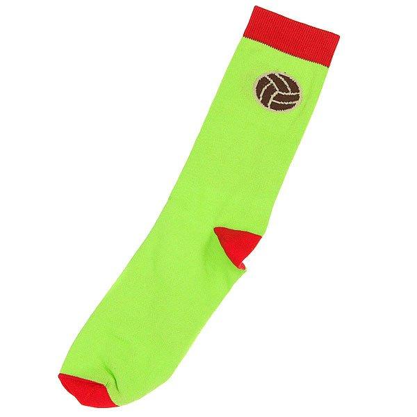 Носки средние Запорожец Футбол Салатовый<br><br>Цвет: зеленый,красный<br>Тип: Носки средние<br>Возраст: Взрослый<br>Пол: Мужской