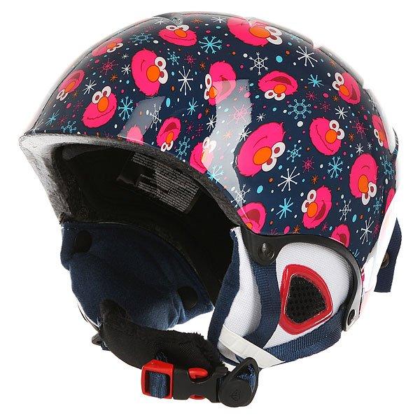 Шлем для сноуборда детский Roxy Misty Girl Pck Elmo Print/Blue Print<br><br>Цвет: синий,розовый<br>Тип: Шлем для сноуборда<br>Возраст: Детский