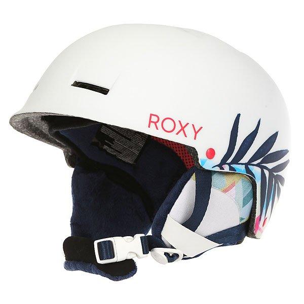 Шлем для сноуборда детский Roxy Happyland Little Owl/Blue Print<br><br>Цвет: белый<br>Тип: Шлем для сноуборда<br>Возраст: Детский
