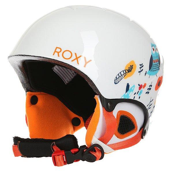 Шлем для сноуборда женский Roxy Misty Girl Pck G Little Owl/Bright WhiteСноубордический шлем для маленьких гонщиков. Прочный шлем из облегченного пластика в комплекте со сноубордической маской.Технические характеристики: В комплекте со шлемом идет маска Loola.Двойной микрошелл и супер легкая конструкция.Пенный амортизирующий наполнитель EPS.Вентиляция сверху и внутренние каналы EPS для эффективного воздухообмена.Подкладка из флиса и сетки.Мягкие термоформованные ушные накладки со съемной подкладкой из шерпы.Интегрированная система регулировки размера.Зажим для маски.Полиуретановая оправа.Эргономичный плоский пенный наполнитель (10 мм).Ремешок шириной 40 мм с двумя слайдерами для регулировки размера.Сочетание сферического поликарбонатного фильтра с двойным из ацетата/пропионата + защищающее от царапин покрытие.100% защита от УФ излучения.Покрытие против запотевания.Вес 340 г.<br><br>Цвет: белый<br>Тип: Шлем для сноуборда<br>Возраст: Взрослый<br>Пол: Женский