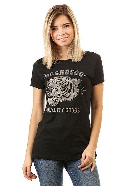 Футболка женская DC Shoes Badder Black<br><br>Цвет: черный<br>Тип: Футболка<br>Возраст: Взрослый<br>Пол: Женский
