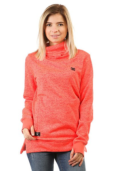 Толстовка сноубордическая женская DC Shoes Veneer Fiery Coral<br><br>Цвет: оранжевый<br>Тип: Толстовка сноубордическая<br>Возраст: Взрослый<br>Пол: Женский