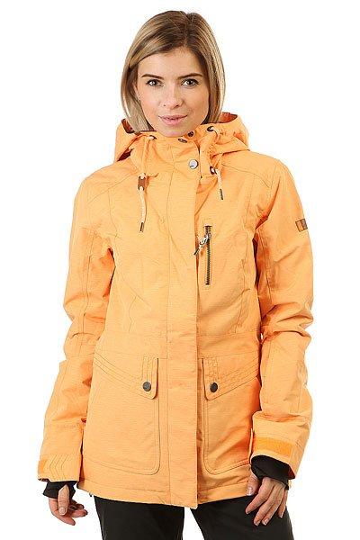 Куртка женская Roxy Andie Blazing YellowСозданная совместно с талантливой сноубордисткой Torah Bright, эта куртка соединила в себе передовые технологии и самые модные тенденции, которые девушка может ожидать от одежды. Что касается стиля, то это настоящая игра контрастов, свободная парка выполненна из материала нежного персикового цвета с контрастной металлической отделкой. Ткань с технологией 10K ROXY DryFlight®, на водонепроницаемость и дышащие свойства которой можно положится, утеплитель 3M™ Thinsulate™ Type M, который обеспечит необходимое тепло Вашему телу, несколько необходимых карманов, регулируемый капюшон, сложите все это и Вы получите куртку, которая достойна одной из самых известных сноубордисток в мире.Характеристики:Удлиненный свободный крой. Коллекция от Torah Bright. Мембрана 10K ROXY DryFlight® (10,000 мм/5,000 г). Утеплитель: 3M™ Thinsulate™ Type M 80 г тело, 40 г рукава и капюшон. Подкладка из тафты с трикотажными вставками. Регулируемый капюшон. Вшитый капюшон. Снегозащитная юбка.Манжеты из лайкры в рукавах. Возможность крепления куртки к штанам.Вентиляция на молнии с вшитой сетчатой тканью. Карман на груди. Теплые карманы для рук. Карман для ски-пасс на рукаве.<br><br>Цвет: оранжевый<br>Тип: Куртка утепленная<br>Возраст: Взрослый<br>Пол: Женский
