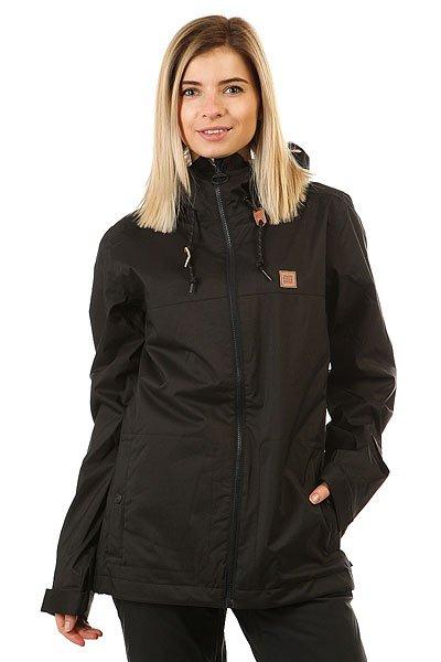 Куртка женская DC Shoes Delinquent BlackСовершенно неприметная на первый взгляд, эта женская куртка обладает множеством технологических характеристик для того, чтобы Вы чувствовали себя максимально комфортно во время катания. Влагостойкая мембранная ткань Exotex 10K и проклеенные критические швы защищают от промокания, а 120 г утеплителя заботятся о Вашем тепле. Удобные внутренние и внешние карманы и отделы вместят все необходимые мелочи от кошелька и телефона до сноубордической маски. Характеристики:Влагостойкая ткань Exotex 10K (10 000 мм / 5 000 г). Утеплитель: 80 г тело, 40 г рукава. Приталенный крой. Подкладка: тафта. Проклеенные в стратегических местах швы. Снегозащитная юбка. Капюшон с козырьком на шнурке. Система крепления куртки к штанам.Удлиненная спина. Эргономичный крой рукавов. Тёплые карманы для рук.Внутренний сетчатый карман. Внутренний медиа-карман. Регулируемые манжеты на липучке. Карман на рукаве для ски-пасса. Фирменный логотип на груди.Состав: 100% полиэстер.<br><br>Цвет: черный<br>Тип: Куртка утепленная<br>Возраст: Взрослый<br>Пол: Женский