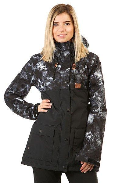 Куртка женская DC Shoes Cruiser Tie DyeКлассика заснеженных гор и продолжительных спусков – с курткой DC Cruiser Вы в любую погоду сможете почувствовать себя как дома. Влагостойкая мембранная ткань EXOTEX™ 10K представлена в однотонной и мягкой контрастной расцветке колор-блок и окажется более чем эффективным способом защитить тело от влаги и ветра. Благодаря качественному утеплителю и приятной подкладке из тафты Вы сможете кататься даже в морозные дни, а высокий ворот, снегозащитная юбка, проклеенные критические швы и система пристегивания куртки к штанам позволят надолго забыть о ветре в спину и о промокшем термобелье.Характеристики:Влагостойкая ткань EXOTEX™ 10K (10 000 мм / 10 000 г). Стандартный крой. Центральная молния по всей длине с ветрозащитным клапаном на кнопках. Регулируемый капюшон с козырьком. Высокий ворот.Подкладка из тафты. Синтетический утеплитель: 80 г тело / 40 г рукава.Проклеенные критические швы. Снегозащитная юбка. Система пристегивания куртки к штанам. Боковые карманы на молнии с теплой подкладкой.Внутренний карман для маски. Медиа-карман с каналом для наушников.Карман для ски-пасса на молнии на рукаве. Регулируемые внешние манжеты на липучке. Манжеты из лайкры с отверстием для большого пальца.Вентиляционные отверстия с сетчатой подкладкой. Нашивка с фирменным логотипом на груди. Состав: 100% нейлон.<br><br>Цвет: черный,серый<br>Тип: Куртка утепленная<br>Возраст: Взрослый<br>Пол: Женский