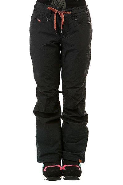 Штаны сноубордические женские Roxy Woodrun True Black