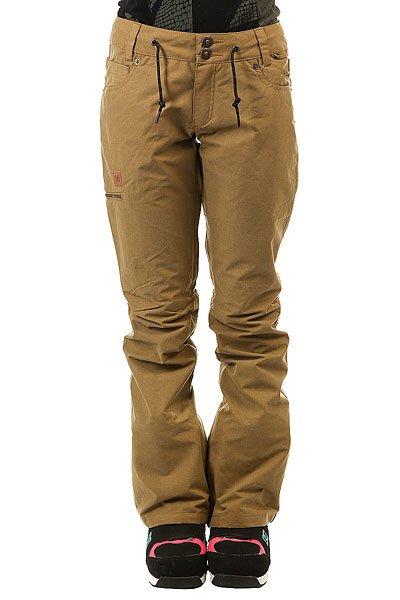 Штаны сноубордические женские DC Shoes Viva Dull GoldГородской стиль в сноубордической одежде всегда будет актуален, именно поэтому подобные, зауженные модели еще долго не выйдут из моды. Что касается технологичности, то она - на высоте! Смотрите сами, мембрана 15000 на 15000, непромокаемый внешний материал, полностью проклеенные швы, гейтор для ботинок, пропитанный пропиткой DWR - все это, вкупе с возможностью пристегнуть штаны к Вашей куртке - дает сноубордические штаны с отличным дизайном и функционалом.Характеристики:Влагостойкая ткань Exotex 15K (15000 на 15000). Подкладка тафта с мягким ворсистым флисом сзади и в области колен.Приталенный крой. Полностью проклеенные швы. Вентиляционные отверстия в районе колен. Снегозащитные гетры с влагостойкой пропиткой DWR.Встроенная утяжка талии. Петли для крепления штанов к куртке. Карманы для рук на молнии. Эргономичный крой коленей. Два задних кармана на молнии.Боковой карман на молнии. Нашивка с логотипом на бедре. Состав: 100% нейлон.<br><br>Цвет: коричневый<br>Тип: Штаны сноубордические<br>Возраст: Взрослый<br>Пол: Женский