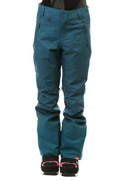 Штаны сноубордические женские Roxy Winterbreak Legion BlueСпортивные штаны классического прямого кроя Roxy Winterbreak выполнены из влагостойкого мембранного материала DryFlight® 10К и готовы встать на защиту юных прекрасных райдеров, которые стремятся проводить всё свое свободное время на склоне в холоде и снегу, но с доской и довольной улыбкой. Качественный синтетический утеплитель Warmflight® обеспечит тепло на протяжении всего дня катания, а мягкая подкладка из легкой тафты позаботится о комфорте и уюте. Дополнительную защиту от снега и ветра обеспечат снегозащитные гетры, проклеенные критические швы и система пристегивания штанов к куртке.Характеристики:Влагостойкая мембранная ткань DryFlight® 10К (10 000 мм / 10 000 г). Классический крой. Застегиваются на молнию и кнопки.Регулируемая талия. Подкладка из легкой тафты. Качественный синтетический утеплитель Warmflight® (40 г). Критические швы проклеены.Вентиляционные отверстия с сетчатой подкладкой. Карманы для рук на молнии. Задние прорезные карманы. Снегозащитные гетры. Карман для ски-пасса.Края штанин на кнопке. Система утяжки краев штанин для предотвращения загрязнения. Система пристегивания штанов к куртке. Состав: 100% полиэстер.<br><br>Цвет: синий<br>Тип: Штаны сноубордические<br>Возраст: Взрослый<br>Пол: Женский