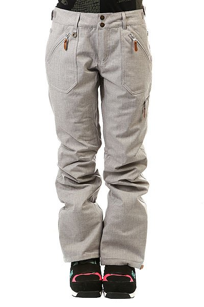 Штаны сноубордические женские Roxy Nadia Mid Heather GreyЕсли Вы ищете штаны, которые отлично проявят себя на склоне и, при этом, в которых Вы будете выглядеть на все 100, то это отличный вариант. Качественная модель с мембраной 10K и лёгким утеплителем.Характеристики:Водостойкая и дышащая мембрана DRY-FLIGHT 10K (10 000 мм / 10 000 г.). Утеплитель: 40 г. Подкладка из тафты. Проклеенные критические швы. Регулировка пояса. Система крепления куртки к штанам. Снегозащитные гетры. Сетчатая вентиляция. Держатель для ски-пасса. Tailored fit (сидят по фигуре). Сертификат качества ткани Bluesign® - Roxy заботится об экологии планеты. Состав: 100% полиэстер.<br><br>Цвет: серый<br>Тип: Штаны сноубордические<br>Возраст: Взрослый<br>Пол: Женский