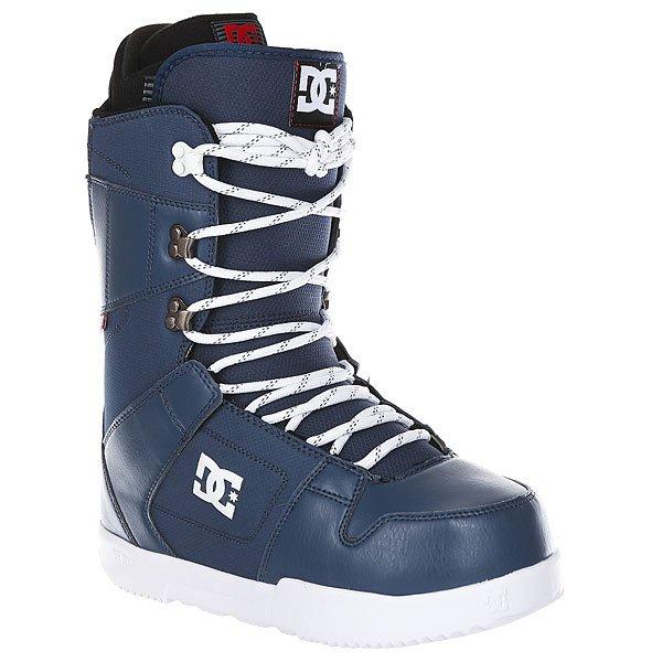 Ботинки для сноуборда DC Phase Insignia BlueДостаточно мягкие ботинки со стелькой UniLite из вспененного EVA материала для лучшей амортизации. Эти практичные ботинки идеально подойдут начинающим и прогрессирующим райдерам, так как не будут стеснять ногу излишней жесткостью.Технические характеристики: Традиционная шнуровка.Технологичная и легкая подошва Unilite™ Foundation.Подошва из полимера EVA.Внутренник Red.Базовая сноубордическая стелька.Жесткость 5/10.<br><br>Цвет: синий<br>Тип: Ботинки для сноуборда<br>Возраст: Взрослый<br>Пол: Мужской
