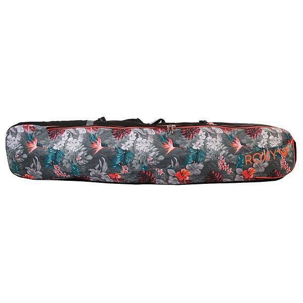 Чехол для сноуборда женский Roxy Board Slee Hawaiian Tropik ParaМягкий переносной сноубордический чехол от ROXY.Технические характеристики: Синтетический Оксфорд.Объем - 70 л.Удобные заплечные лямки для переноски.Плотный кожух на липучке Velcro для съемных заплечных лямок.Универсальный доступ к сноуборду.Множество уплотненных удобных ручек.На молнии.Прочная и водостойкая подкладка.Удобные ручки для переноски.Один размер.<br><br>Цвет: черный,мультиколор<br>Тип: Чехол для сноуборда<br>Возраст: Взрослый<br>Пол: Женский