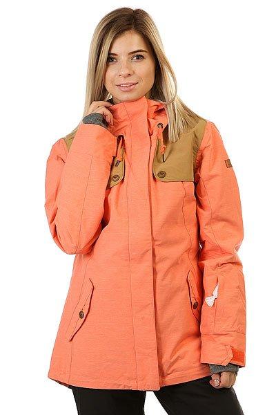 Куртка женская Roxy Lodge CamelliaСноубордическая куртка Lodge с мембраной DryFlight® и утеплителем Thinsulate™ Type M, заботливо дополненная специальными длинными манжетами для быстрого согревания пальцев рук.Технические характеристики: Мембрана DryFlight® 10К.Утеплитель Thinsulate™ Type M (тело 80 г, рукава и капюшон 40 г).Подкладка из тафты со вставками из трикотажа с начесом.Критические швы проклеены.Три способа регулировки капюшона.Фиксированный капюшон.Снежная юбка из тафты с удобными кнопками.Система пристегивания куртки к штанам.Подкладка в районе подбородка.Внутренний медиа карман.Внутренний карман для маски.Брелок для ключей.Длинные внутренние манжеты, позволяющие быстро согреть руки.Карман для скипасса на рукаве.Карманы для рук с теплой подкладкой.Манжеты с регулировкой на липучках.Сеточная вентиляция на молнии.Подол на утяжке для защиты от ветра.Застежка на молнии с ветрозащитным клапаном на липучках.<br><br>Цвет: розовый<br>Тип: Куртка утепленная<br>Возраст: Взрослый<br>Пол: Женский