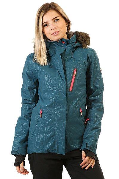 Куртка женская Roxy Jet Ski Prem Legion BlueДля девушек, которые живут горами и в горах, в мечтах и наяву. Куртка в приталенном силуэте выгодно подчеркивает фигуру, а также отличается теплом и технологичностью.Технические характеристики: Мембрана DryFlight® 15К.Утеплитель Thinsulate™ Type M (тело 100 г, рукава 80 г, капюшон 60 г).Подкладка из тафты со вставками из трикотажа с начесом.Полностью проклеенные швы.Три способа регулировки капюшона.Съемный капюшон.Съемная отделка капюшона из искусственного меха.Снежная юбка из тафты с удобными кнопками.Система пристегивания куртки к штанам.Подкладка в районе подбородка.Внутренний медиа карман.Внутренний карман для маски.Кармашек для скипасса на рукаве.Ткань для протирки фильтра маски.Брелок для ключей.Лайкровые манжеты с прорезями для больших пальцев.Сеточная вентиляция на молнии.Водостойкие молнии YKK® Aquaguard®.Карманы с теплой подкладкой.Воротник из косметического текстиля Enjoy &amp; Care.<br><br>Цвет: синий<br>Тип: Куртка утепленная<br>Возраст: Взрослый<br>Пол: Женский
