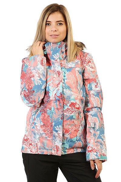 Куртка женская Roxy Jet Ski Undersea CamelliaПриталенная и уютная сноубордическая куртка со съемным мехом. Смелые и модные принты, переплетенные с технологичной мембраной DryFlight® 10К и утеплителем Warmflight® будут держать Вас в тепле в холодные зимние дни.Технические характеристики: Технологичная саржа из полиэстера.Мембрана DryFlight® 10К.Утеплитель Warmflight® (тело 120 г, рукава 100 г, капюшон 60 г).Подкладка из тафты со вставками из трикотажа с начесом.Критические швы проклеены.Съемный капюшон.Съемная отделка капюшона из искусственного меха.Фиксированная снежная юбка из тафты с удобными кнопками.Система пристегивания куртки к штанам.Подкладка в районе подбородка.Внутренний медиа карман.Внутренний карман для маски.Брелок для ключей.Внутренние манжеты из лайкры.Кармашек для скипасса на рукаве.Карманы для рук с теплой подкладкой.Манжеты с регулировкой на липучках.Сеточная вентиляция на молнии.Подол на утяжке для защиты от ветра.Застежка на молнии с ветрозащитным клапаном на липучках.<br><br>Цвет: мультиколор<br>Тип: Куртка утепленная<br>Возраст: Взрослый<br>Пол: Женский