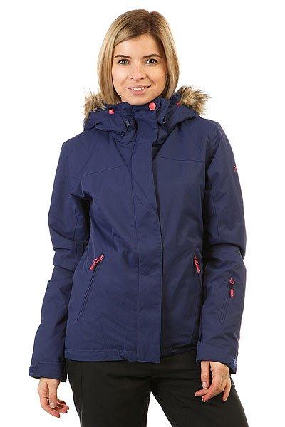 куртка женская roxy jet ski цвет синий erjtj03124 bfk9 размер s 42 Куртка женская Roxy Jet Ski Sol Blue Print