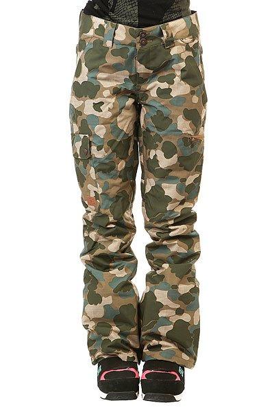 Штаны сноубордические женские DC Recruit Pnt Camouflage Lodge WomКатальная экипировка для бесконечных сессий в парке, вдохновение для создания которой DC черпали в уличной моде и уличной культуре. Коллекция Treeline – это высокотехнологичная одежда с функциональной и городской эстетикой, современная и стильная.Технические характеристики: Мембрана EXOTEX 10.Теплая и уютная подкладка из тафты.Утеплитель 40 г.Критические швы проклеены.Система пристегивания куртки к штанам.Система утяжки краев штанин для предотвращения их износа и загрязнения.Эргономичный крой с акцентированной областью колена.Гетры для сноубордического ботинка с водоотталкивающей пропиткой DWR.Вставка на кнопке для регулировки ширины нижней части штанины.Карманы с утепленной подкладкой на молнии.Набедренные карманы.Задние карманы на липучке Velcro.Просторный крой.<br><br>Цвет: зеленый,бежевый,синий<br>Тип: Штаны сноубордические<br>Возраст: Взрослый<br>Пол: Женский