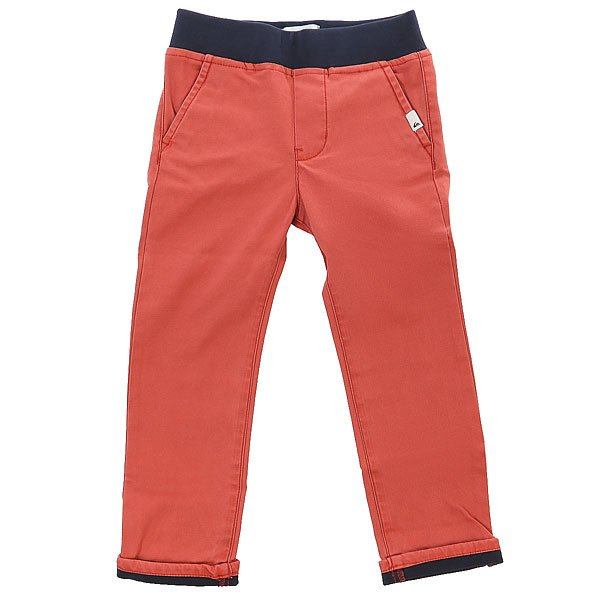 Штаны прямые детские Quiksilver Krandyconawboy Barn Red<br><br>Цвет: коричневый<br>Тип: Штаны прямые<br>Возраст: Детский