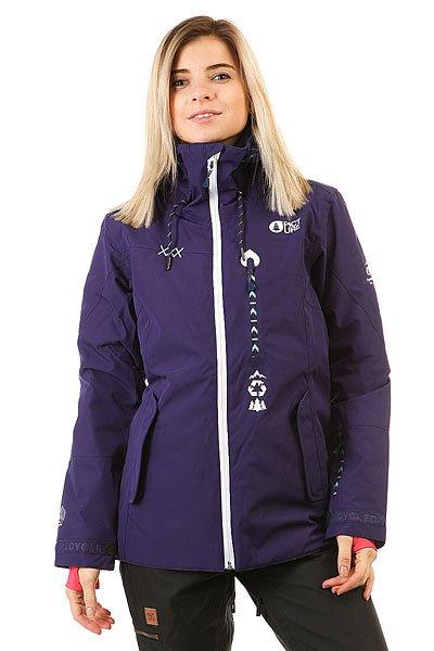 Куртка утепленная женская Picture Organic Kelowna PurpleКуртка, получившая название в честь мифической горы в провинции Британской Колумбии. Дизайн в контрастной расцветке с технологичной мембраной 10K/10K.Технические характеристики: Переработанный полиэстер.Утеплитель Coremax 80гр.Мембрана DRY PLAY.Прочное водоотталкивающее покрытие без использования химических веществ C6 DWR PFOA PFOS.Подкладка из сетки Thermal Dry System сохранит тепло тела, обеспечивая дополнительный уровень защиты от холода.Водонепроницаемые молнии.Индекс тепла 7/10.Критические швы проклеены.Внутренние эластичные манжеты.Внешние манжеты на липучке.Нагрудный карман с салфеткой для протирки маски.Скипасс карман.Вентиляционные молнии.Карман для смартфона Tactil.Фиксированная снежная юбка с креплением для штанов.Подол на утяжке для защиты от ветра и регулировки размера.<br><br>Цвет: фиолетовый<br>Тип: Куртка утепленная<br>Возраст: Взрослый<br>Пол: Женский