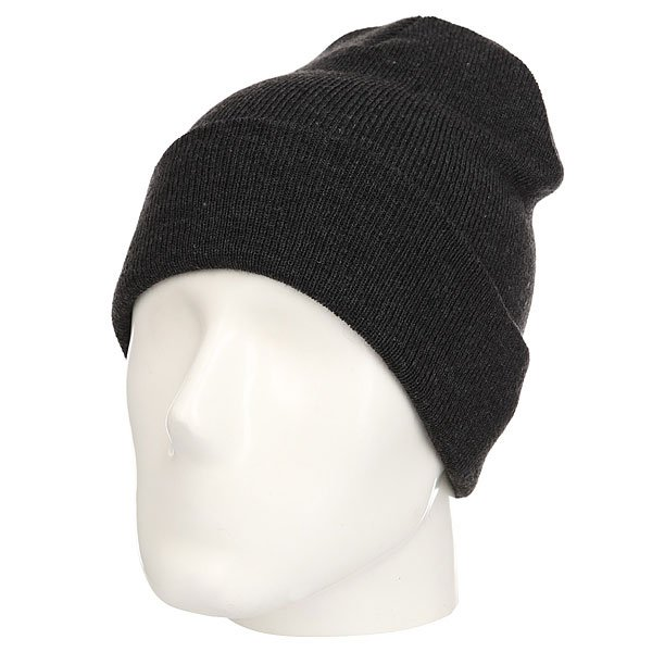 Шапка TrueSpin Plain Cuffed Beanie Heather Black
