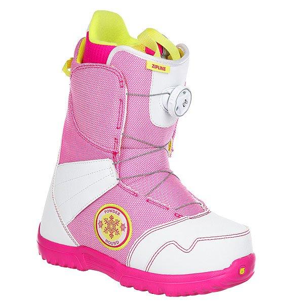 Ботинки для сноуборда детские Burton Zipline Boa White/Pink