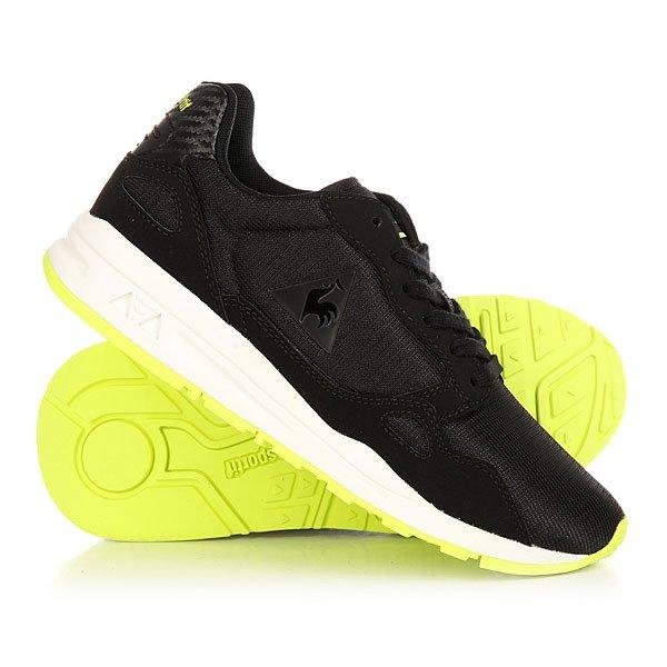 купить Кеды кроссовки низкие женские Le Coq Sportif Lcs R900 Gs Mesh Black/Safety Yellow недорого