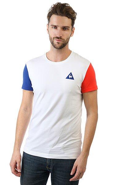 Футболка Le Coq Sportif Palavi Bbr Opt White/Bright<br><br>Цвет: белый<br>Тип: Футболка<br>Возраст: Взрослый<br>Пол: Мужской