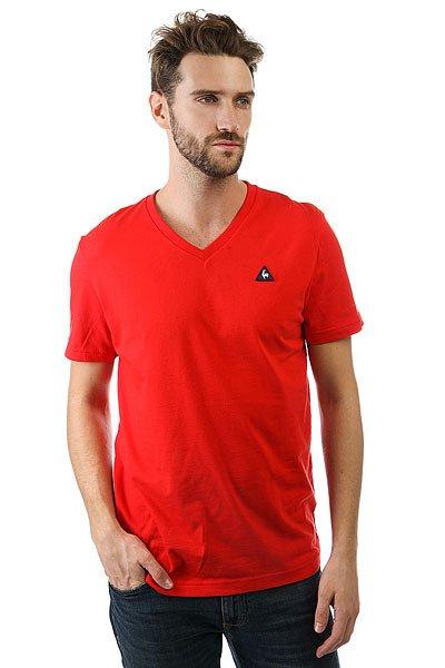 Футболка Le Coq Sportif Sarno Pur Rouge<br><br>Цвет: красный<br>Тип: Футболка<br>Возраст: Взрослый<br>Пол: Мужской